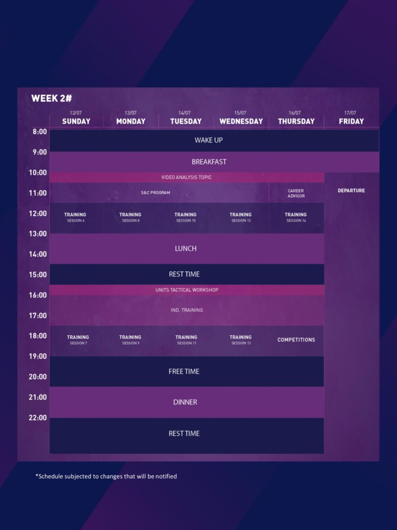 schedule camp 2